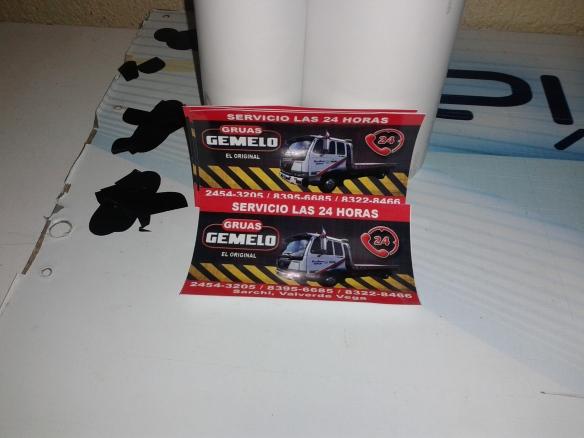 Adhesivos tarjetas axemgraphics