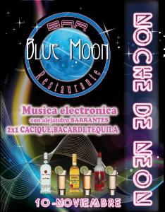 fin de semana neon blue moon